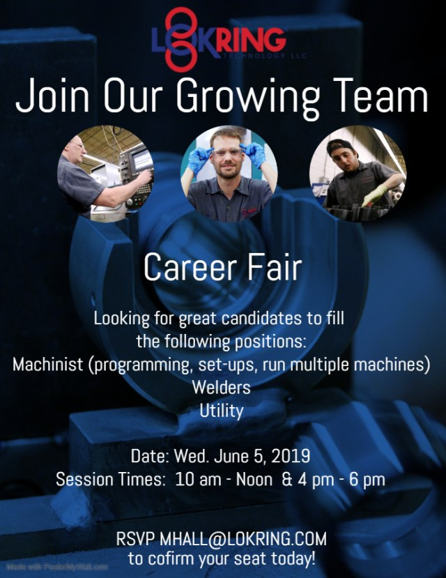 Lokring June 2019 Career Fair