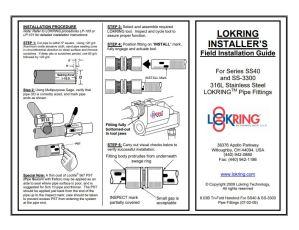 Lokring SS Field Installation Guide
