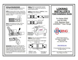 Lokring SS Field Installation Guide