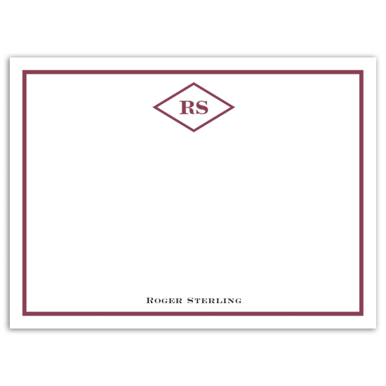 Mr. Diamond Notecard - Maroon