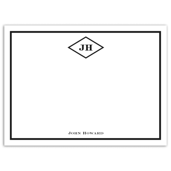 Mr. Diamond Notecard - Black