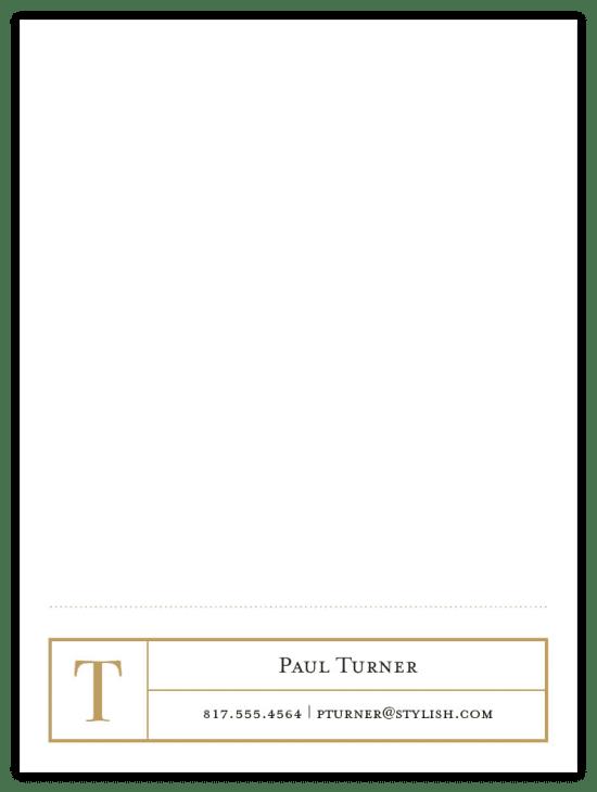 Mr. Footer Notecards - Camel