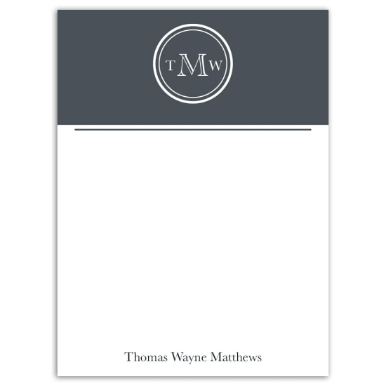 Mr. Monogram Notecard - Grey