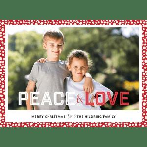 Peace Love Polka Dots Christmas