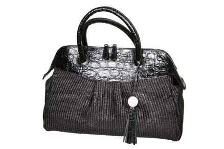 Bag from a black leather