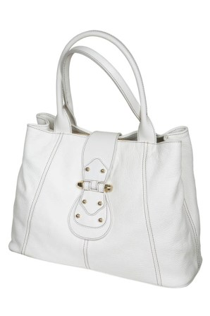 Fashionable female leather bag