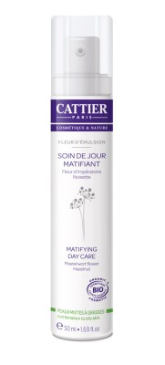 Cattier, cremă bio matifiantă de zi Fleur d'Emulsion - 50 ml