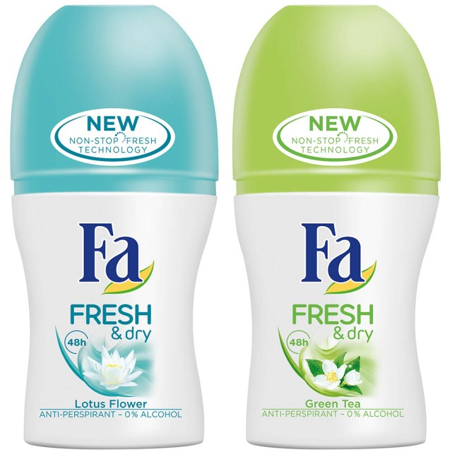 Fa Fresh & Dry, Lotus Flower & Green Tea, roll-on