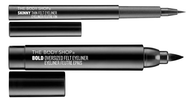 The Body Shop, Skinny Thin Felt Eyeliner & Bold Oversized Felt Eyeliner