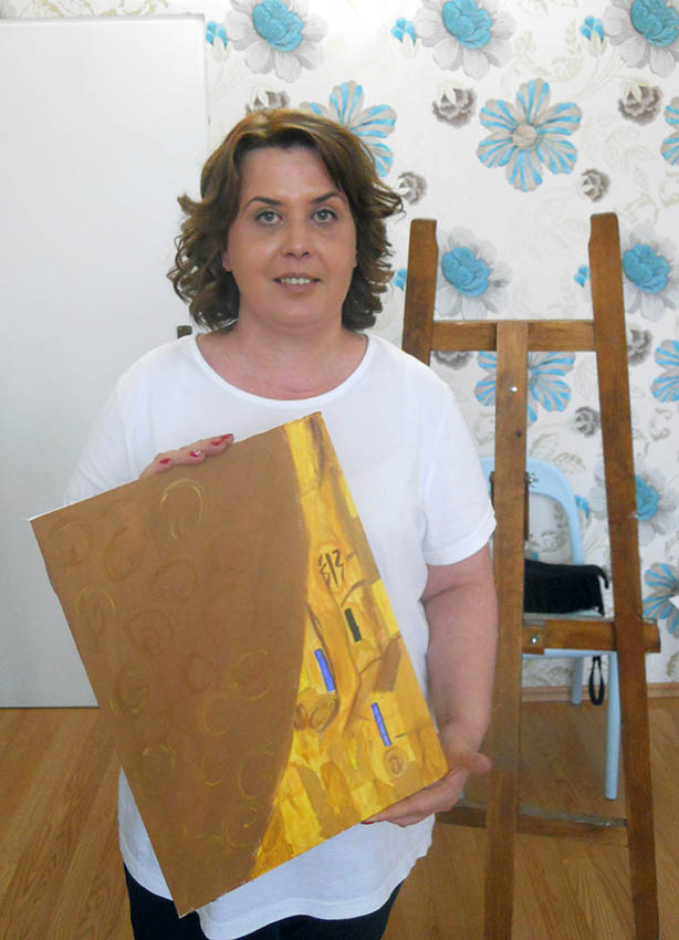Woman in Gold, atelier pictură