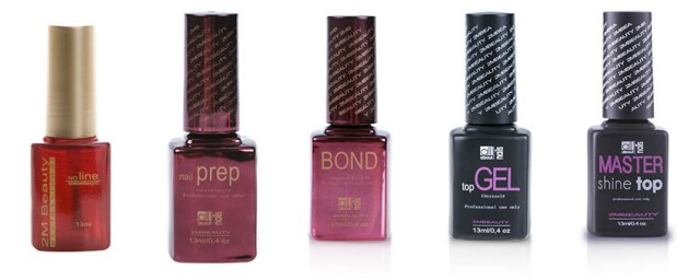 No Line 2M, Nail Prep 2M, Bond 2M, Top Gel 2M II, ojă semipermanentă GELlack 2M Master Shine Top