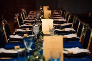 winter bruiloft tafelstyling