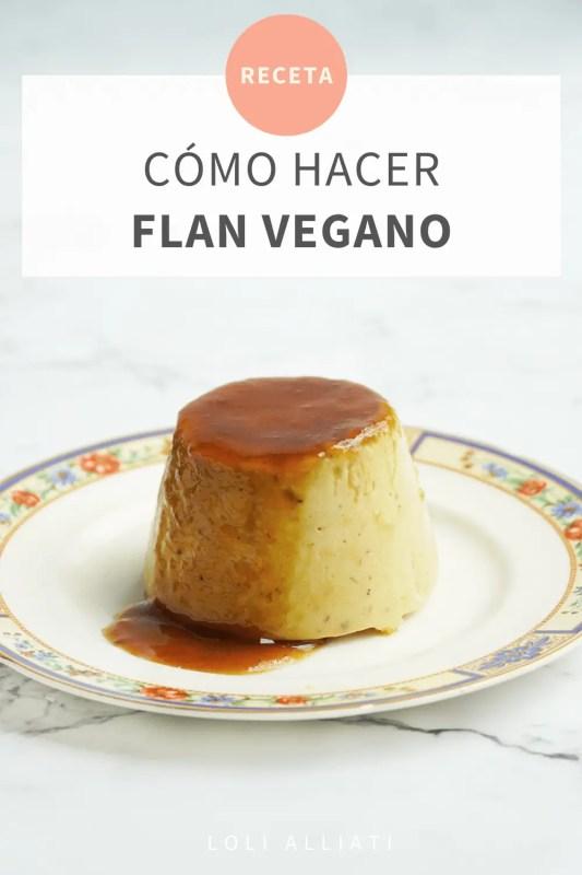como hacer flan vegano