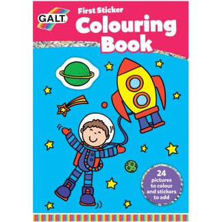 First Sticker Colouring Book