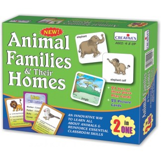 Animals Families & their Homes 2 in 1