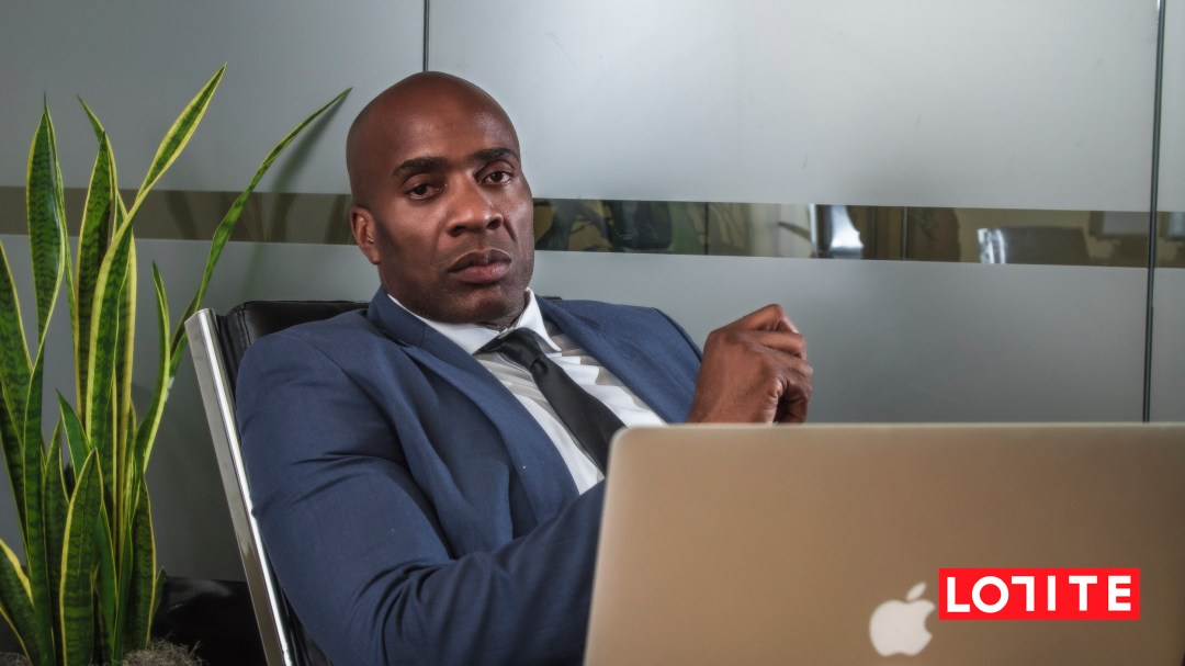 Peter Ezugwu at the office