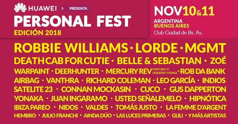 Lineup Personal Fest