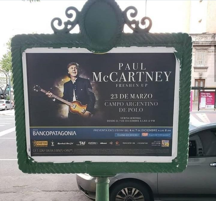 Entradas a Paul McCartney Argentina
