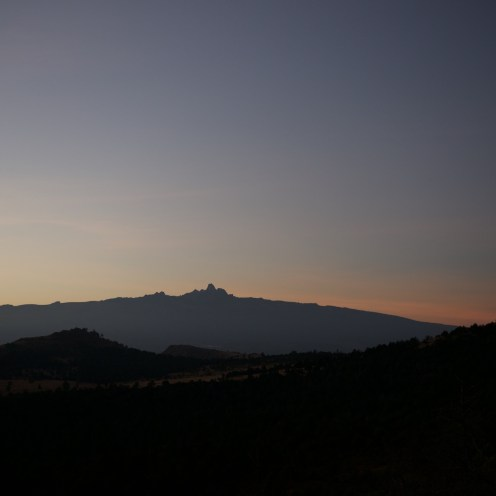 View on Mount Kenya from Lolldaiga Hills Ranch. Photograph by Johannes Refisch.
