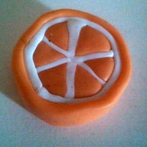 Cane orange pas encore réduite