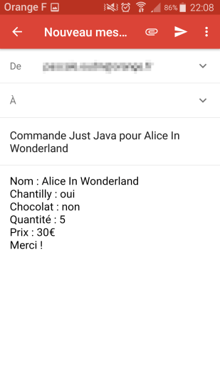 Just Java Mail Intent