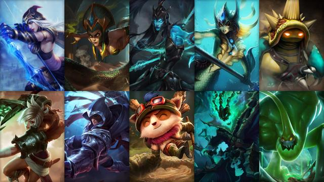 Tuesday, New champion rotation featuring Cassiopeia, Talon, Nami, Ashe and more