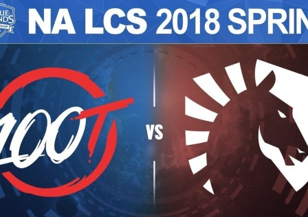 100 Thieves vs Team Liquid - NA LCS Spring Split 2018