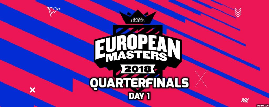 European Masters Quarterfinals Day 1