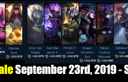 Champions and Skin Sale September 23rd, 2019 – September 30th, 2019