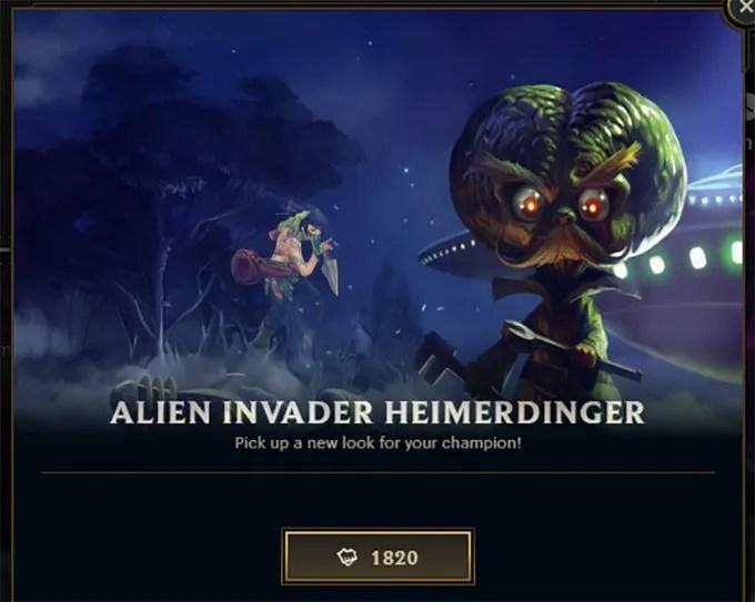 Alien Invader Heimerdinger is on Sale Exactly on Area 51 Raid  – September 20, 2019