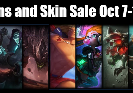 Champions and Skin Sale October 7 – 14, 2019