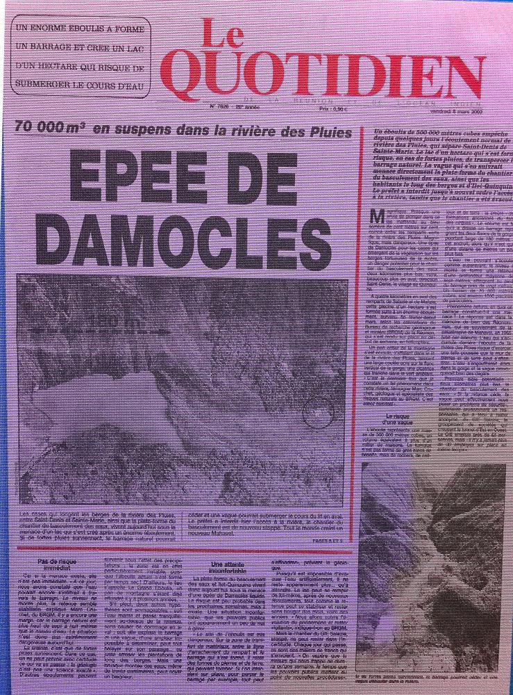 Glissement de terrain - Cité du Volcan