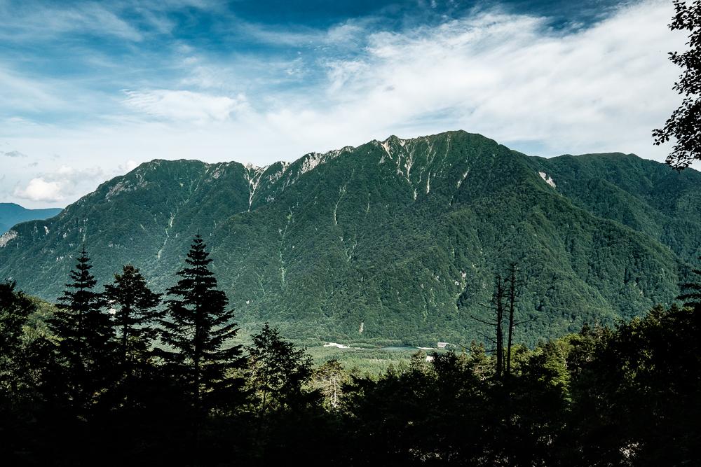 Vue sur les Alpes japonaises