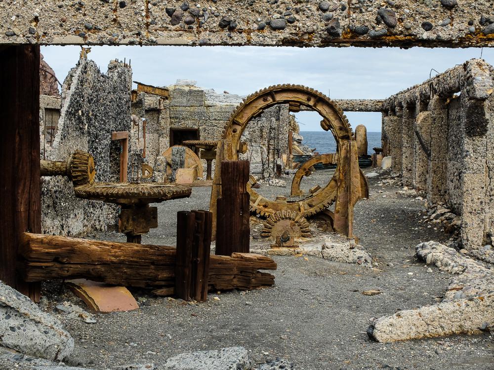 Anciens bâtiments de la mine