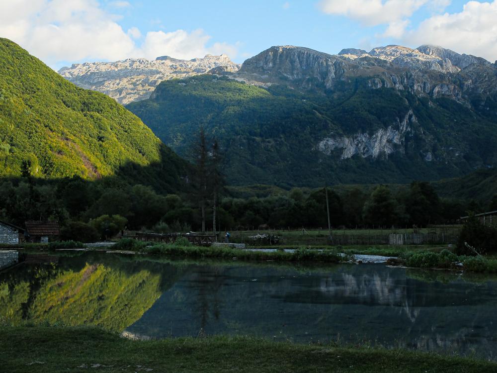 Vue de notre camping au restautant le Krokjet