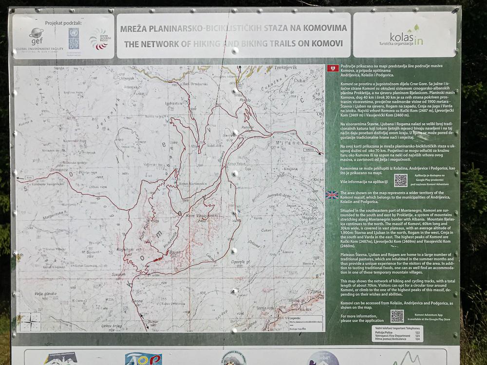 Carte parc KOMOVI