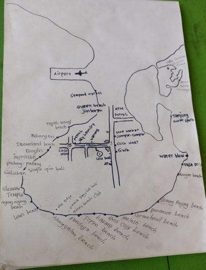 Carte de la presqu'île de Bukit