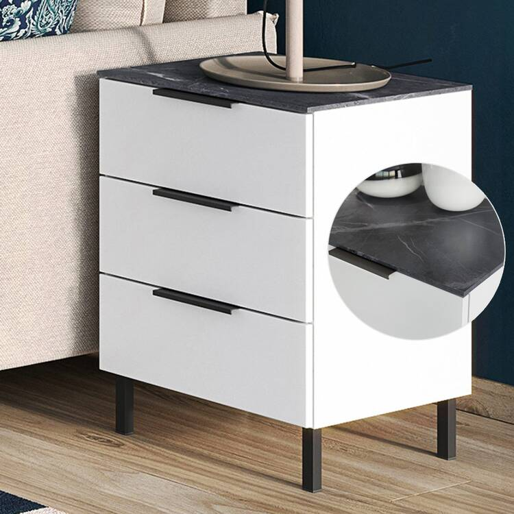 small chest of drawers console cholet 01 white with marble nb w h
