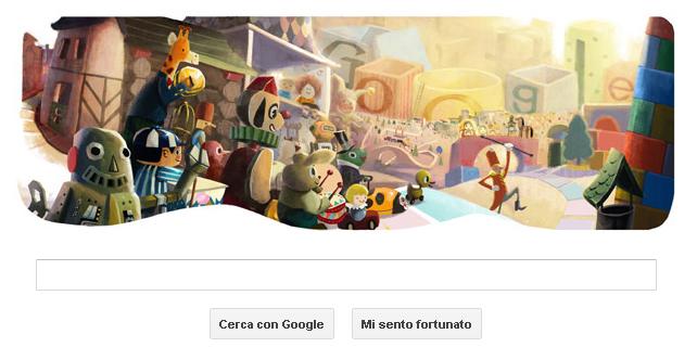 Auguri in stile Google
