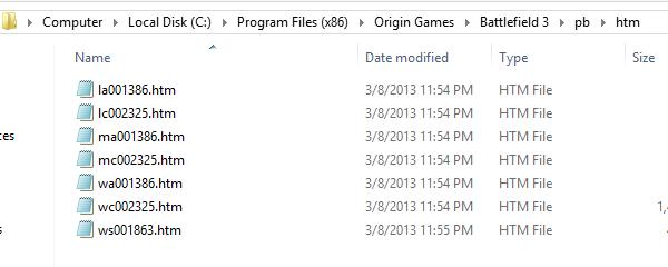 I file htm da cancellare