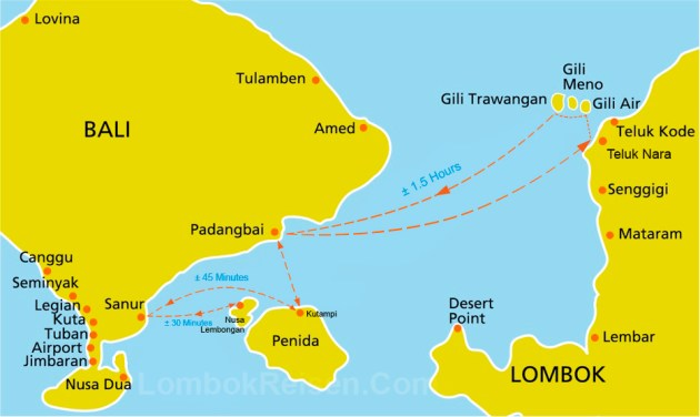 Semaya One Fast Cruise Route Map