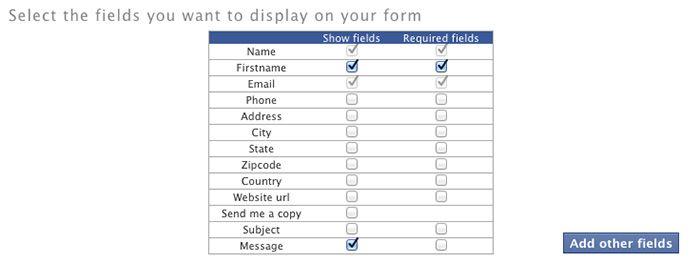 Añadir campos en formulario para Facebook