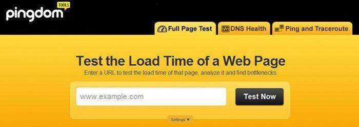 Optimización de velocidad de carga de página web con Pingdom Tools