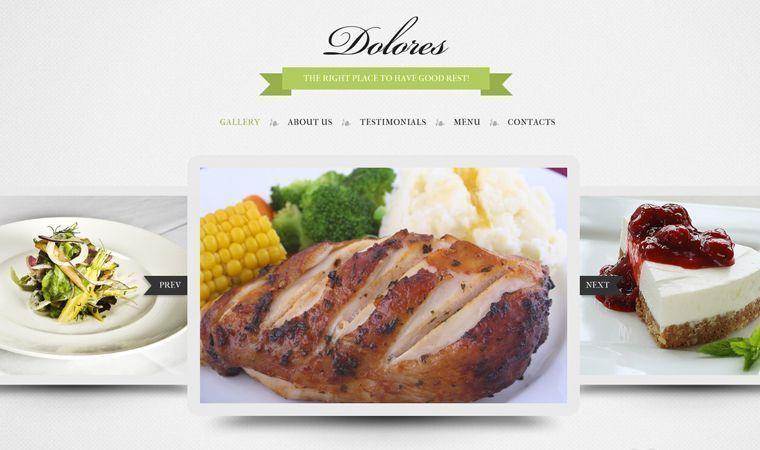 Crear página web para restaurantes con slider