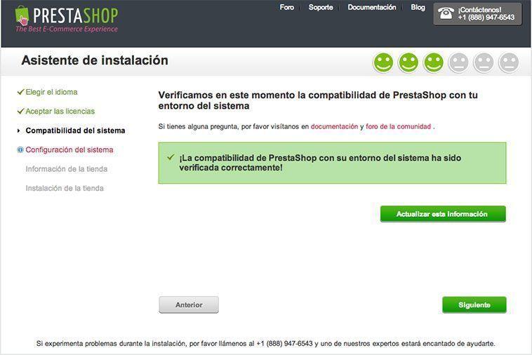 Crear una tienda online con PrestaShop - Compatibilidad