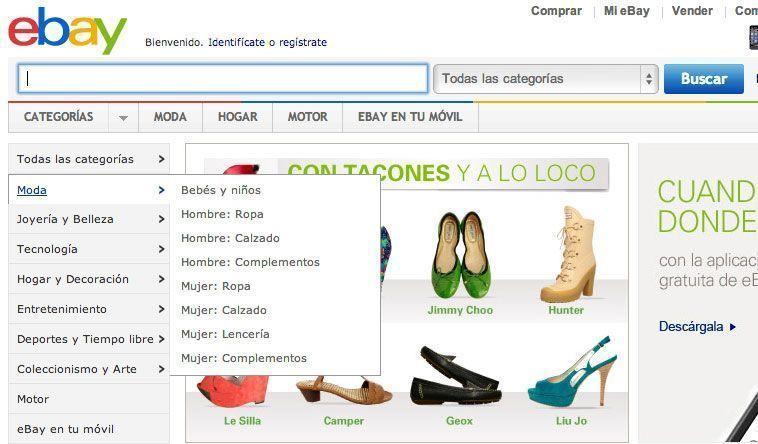 Trucos diseño de tiendas virtuales exitosas - Menú de navegación