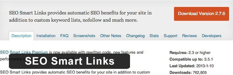 Plugin SEO de WordPress - SEO Smart Links