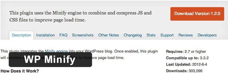 Plugin SEO para WordPress - WP Minify