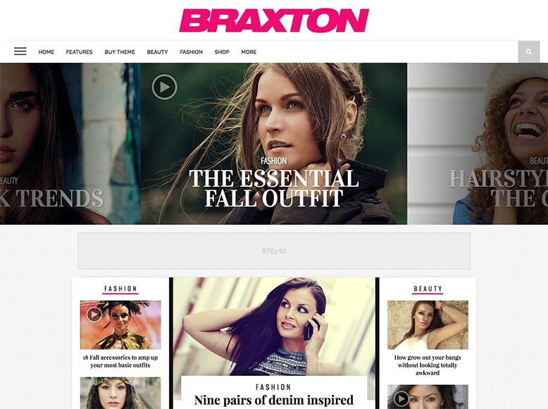 Braxton - Tema WordPress para revistas online elegantes y modernas