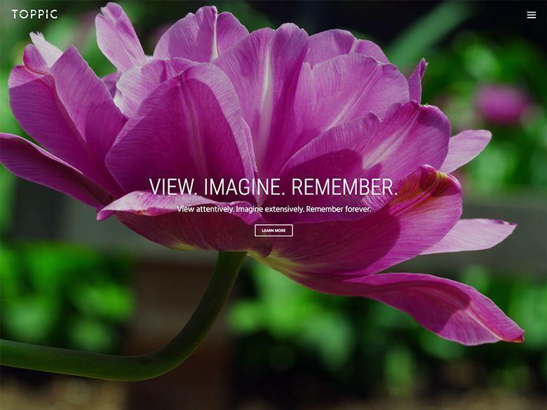 TopPic - Plantilla WordPress para portafolios fotográficos